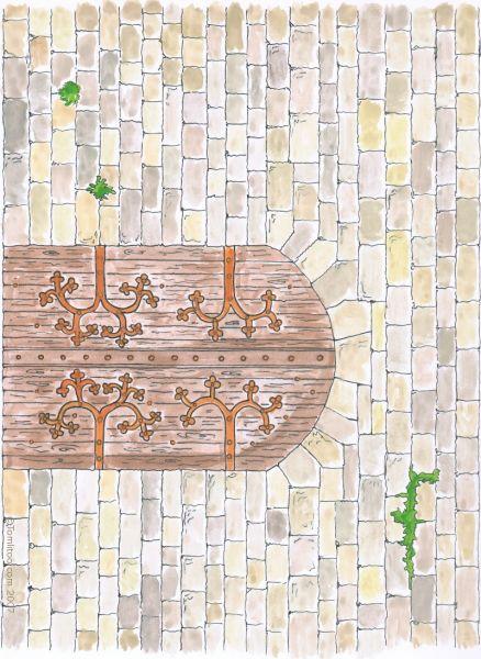 Le ch teau fort at bricolage coloriage enfants gifs anim s - Image de chateau a imprimer ...